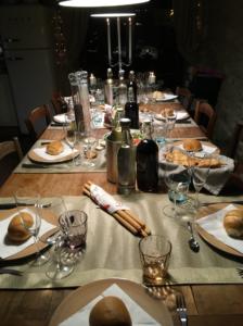 eten en drinken met kerst