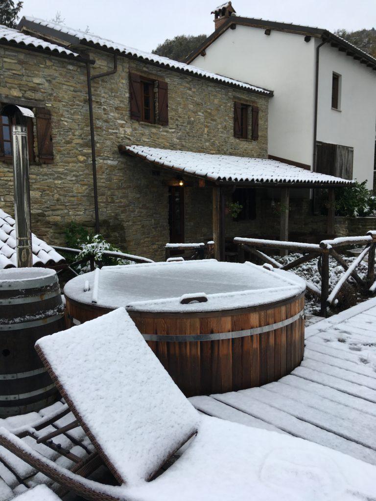 Hottub in de winter